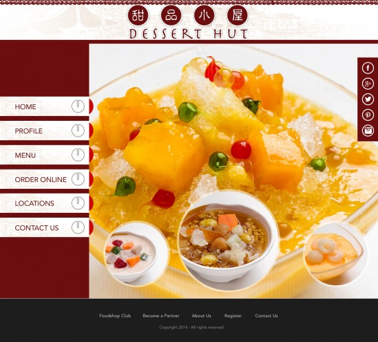 Dessert Hut, sgWebster, Web Design