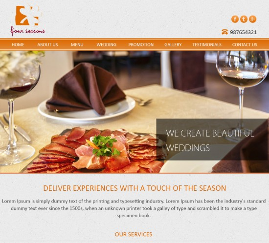 four seasons, sgWebster, Web Design