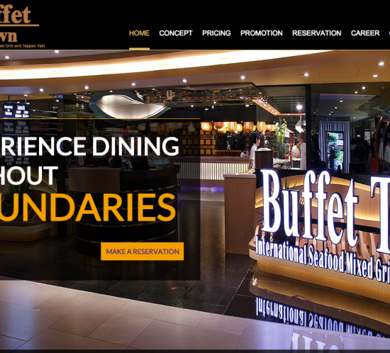 Buffet Town, sgWebster, Web design